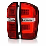 2016-2019 Toyota Tacoma Full LED Tube Tail Lights - Red Clear