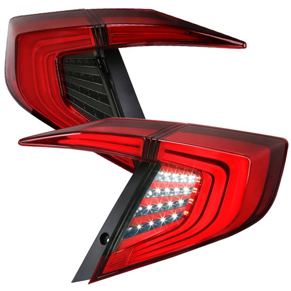 2016-2020 Honda Civic 4Dr Switchback LED Sequential Signal Red Tail Lights