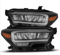 2016-2020 Toyota Tacoma [Halogen Model with DRL] TRD-Style LED Headlights - Matte Black