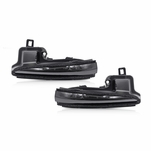 2016-2020 Toyota Tacoma Sequential LED Side Mirror Turn Signal Lights - Smoked Lens