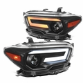 2016-2021 Toyota Tacoma Black Projector Headlights LED Sequential Signal / DRL