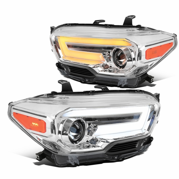 2016-2021 Toyota Tacoma Chrome Projector Headlights LED Sequential Signal / DRL