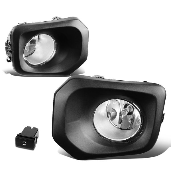 2016-2019 Toyota Tacoma Pair Front Bumper Driving Fog Lights Kit (Clear Lens)