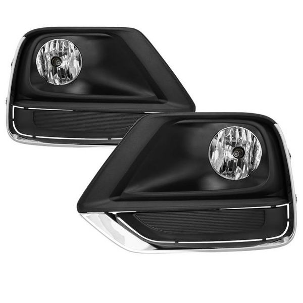 2017-2019 Chevy Trax OE-Style Front Bumper Fog Lights Clear - Chrome Trim