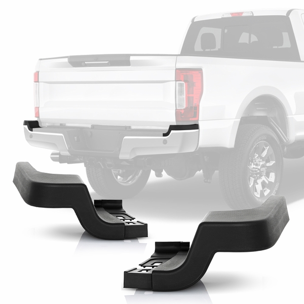 2017-2020 Ford F250 F350 SuperDuty Rear Bumper End Cap Step Pad Pair