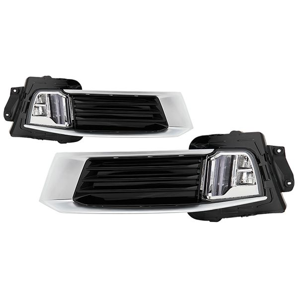 2018-2019 Cadillac XTS Front Bumper LED DRL Switch Back Turn Signal Lights Driving