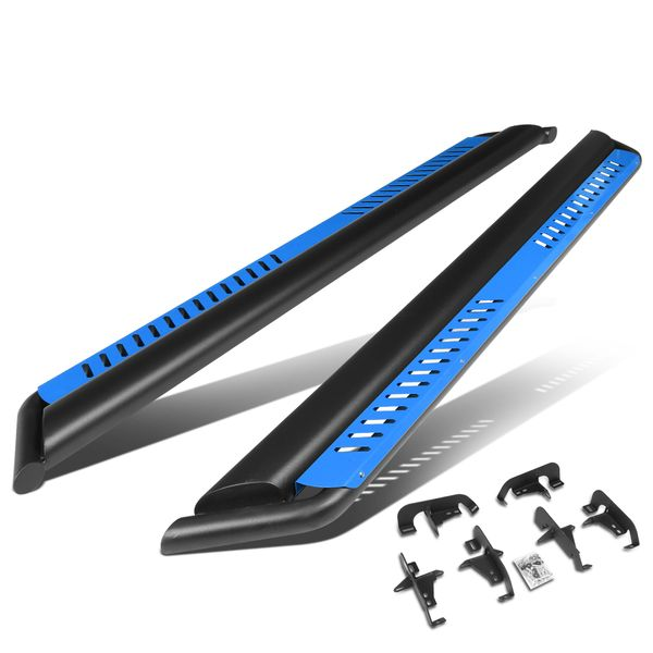 2018-2020 Jeep Wrangler JL Nerf Bar Running Board w/Blue Dropped Step Plate