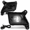 2019-2020 Chevy Silverado 1500 LED Projector Front Fog Lights - Smoked Lens