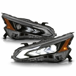 2019-2021 Nissan Altime w/LED DRL Type Black Projector Headlights