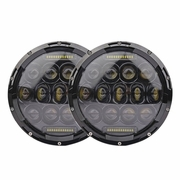 2X 75W 7 inch Round Performance LED Headlights