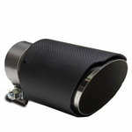 "3.5"" Outlet Black Stainless Steel Carbon Fiber Look Bolt-On Exhaust Tip"