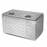 "30 X 18"" Aluminum Pickup Truck Trunk Bed Tool Box Underbody Trailer Storage+Lock"