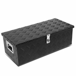"30""x13""x10"" Aluminum Pickup Truck Bed Trailer Key Lock Storage Tool Box (Black)"