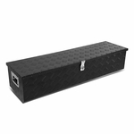 "39""x13""x10"" Aluminum Pickup Truck Bed Trailer Key Lock Storage Tool Box (Black)"