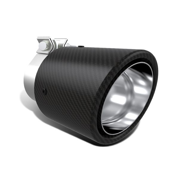 4-inch Dry Carbon Fiber Slant Outlet / 2.75-inch Inlet Stainless Steel Exhaust Tip