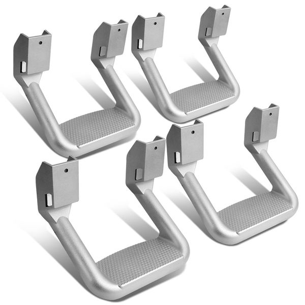 2-Pair of Aluminum Side Assist Step for Pickups & Trucks - Powder Coated Silver
