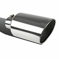 4-inch x 8-inch x 15-inch Chrome Stainless Steel Slant Tip Bolt On Diesel Exhaust Tip