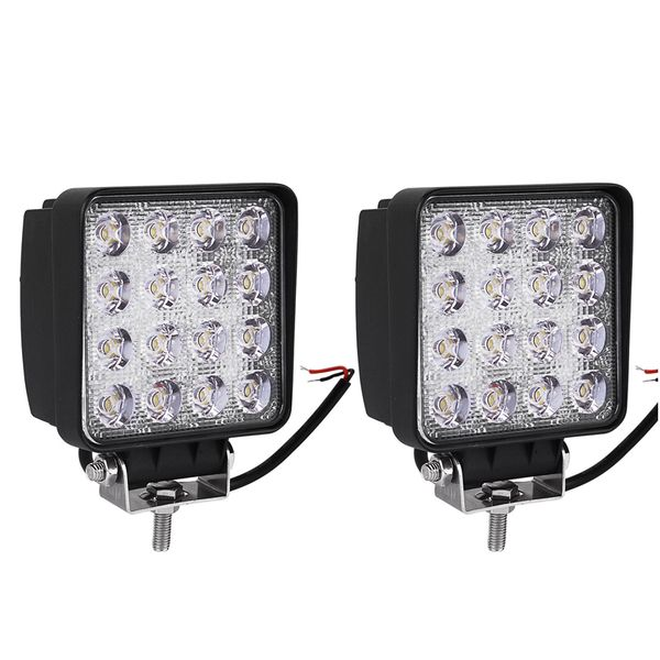 48W 4-inch Square Spot Beam LED Work Light / Off Road SUV ATV Truck 4WD