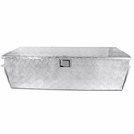 "49""x 15"" Truck Pickup Flat Bed Aluminum Underbed Tool Box Tongue Trailer Storage"