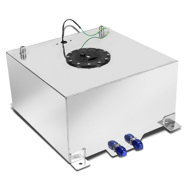 5-Gallon Aluminum Fuel Cell Gas Tank with Level Sender With Black Cap