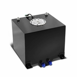 5-Gallon Aluminum Street/Drift/Strip/Racing Fuel Cell Black Gas Tank with Level Sender and Cap
