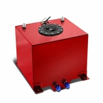5-Gallon Aluminum Street/Drift/Strip/Racing Fuel Cell Red Gas Tank with Level Sender and Black Cap