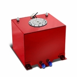 5-Gallon Aluminum Street/Drift/Strip/Racing Fuel Cell Red Gas Tank with Level Sender and Cap