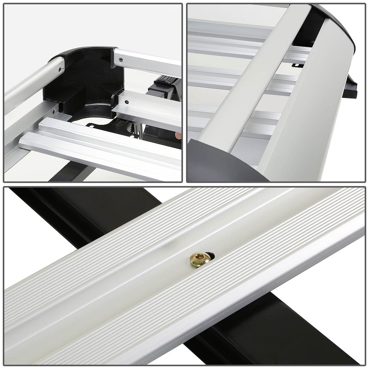 Exterior Accessories Silver 50 inches x 31 inch Aluminum Roof Rack ...