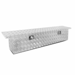 "69 X 12"" Aluminum Pickup Truck Trunk Bed Tool Box Underbody Trailer Storage+Lock"