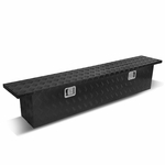 "69""x12""x13.75"" Aluminum Truck Storage Tool Box w/Lock & Keys (Black)"