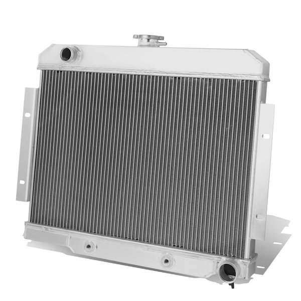70-86 Jeep CJ5-7 w/ Chevy SBC V8 Engine Swap 3-Row Tri-Core Aluminum Radiator