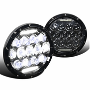 75W 7-inch Round LED Headlights Hi/Low Sealed Beam DRL For Jeep Wrangler TJ JK Pair