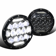 "75W 7"" Round LED Headlights Hi/Low Sealed Beam DRL For Jeep Wrangler TJ JK Pair"