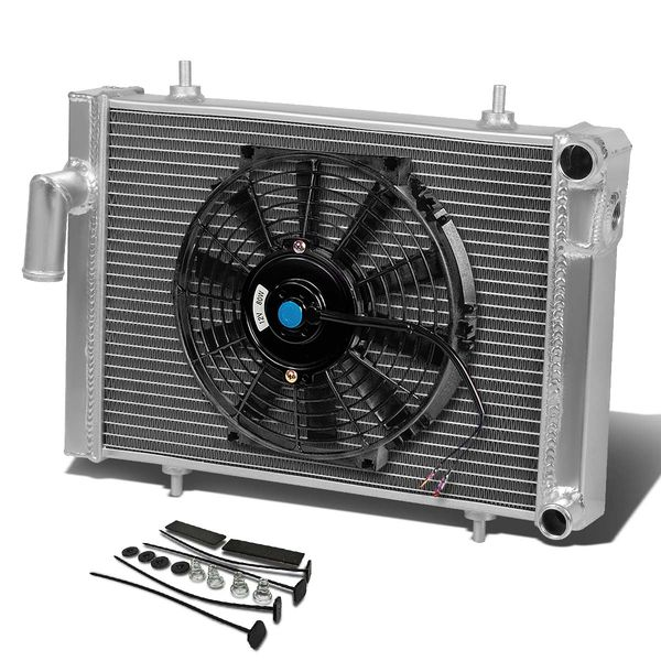 "79-80 Triumph Spitfire 1500 MT Aluminum Racing 3-Row Radiator+10"" Fan (Black)+Mounting Kit"