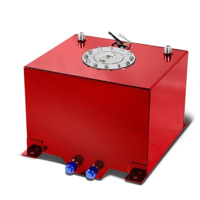 8-Gallon Aluminum Street/Drift/Strip/Racing Fuel Cell Red Gas Tank with Level Sender and Cap