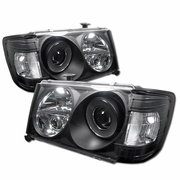 86-93 Mercedes Benz W124 E-Class 1-PC Projector Headlights - Black