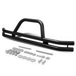 87-06 Jeep Wrangler 3-inch Stainless Steel Front Brush Bumper Grille Guard (Black)