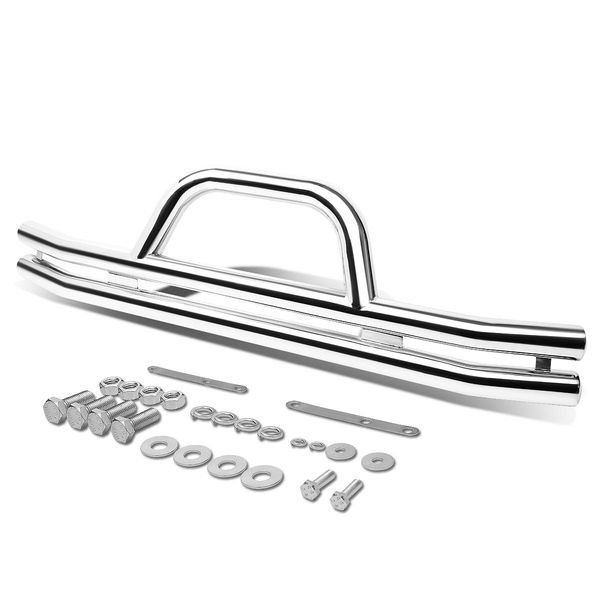 87-06 Jeep Wrangler 3-inch Stainless Steel Front Brush Bumper Grille Guard (Chrome)