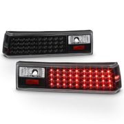1987-1993 Ford Mustang Performance LED Tail Lights - Black