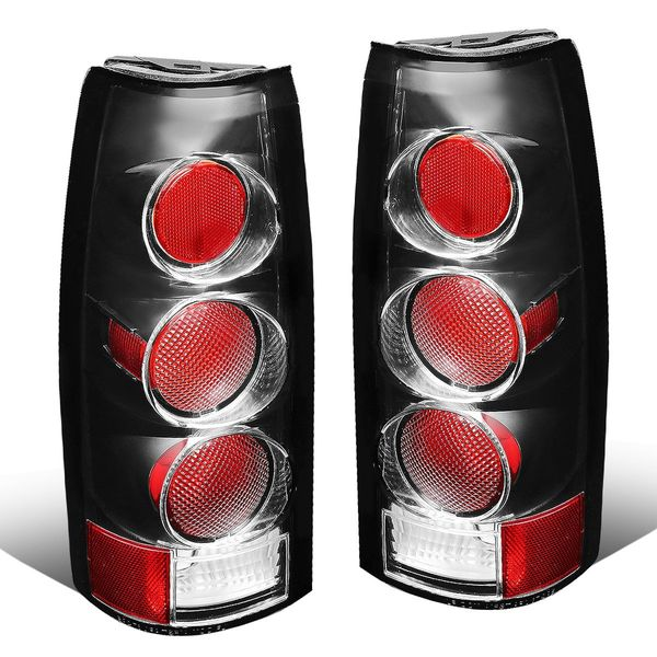 88-00 Chevy/GMC C/K C10 Series Pair of Black Housing Clear Lens Altezza Style Brake Tail Lights