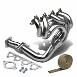 88-00 Civic / Crx / Delsol D15 / D16 4-1 Stainless Drag Racing Manifold Header Exhaust + Heat Wrap