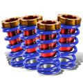"""88-00 Honda Civic Scaled 1-4"""" Adjustable Coilover Springs Lowering - Blue"""