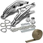 88-97 Chevy GMC Pick 5.0L / 5.7L Pick Up Stainless Racing Manifold Header Exhaust + Heat Shield
