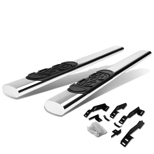 88-98 Chevy C/K 1500-3500 Ext Cab Stainless 6-inch Chrome Oval Side Step Nerf Bar