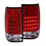 89-95 Toyota Hilux Pickup LED Tail Lights - Red Clear