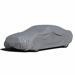 9-Layer All Weather Proof Breathable Lining Full Car Cover for Up to 14.75' Vehicles (Silver)