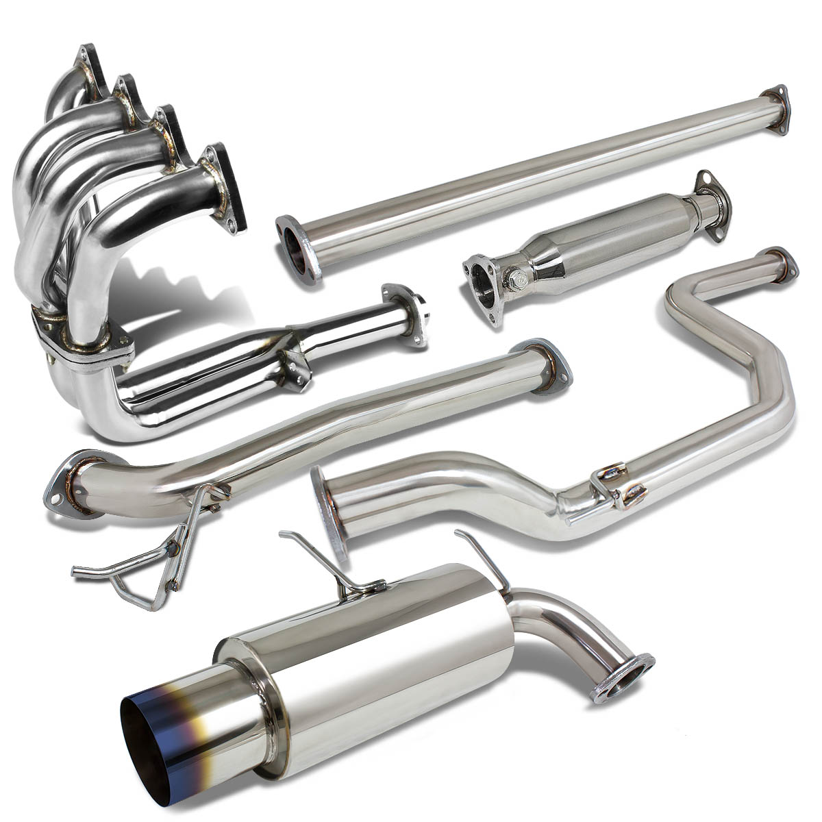 90-91 Acura Integra Racing Catback Exhaust System 4.5