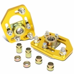90-93 Ford Mustang Front Adjustable +/-3.0 Camber +/-2.0 Caster Plates - Gold