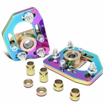 90-93 Ford Mustang Front Adjustable +/-3.0 Camber +/-2.0 Caster Plates - Neo Chrome