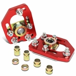 90-93 Ford Mustang Front Adjustable +/-3.0 Camber +/-2.0 Caster Plates - Red